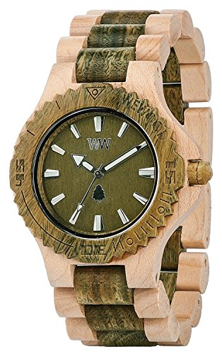 WEWOOD watch Wood / wooden DATE BEIGE ARMY 9818100