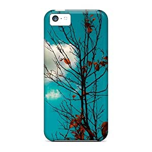 linJUN FENGDurable Defender Case For iphone 5/5s Tpu Cover(white Cloud)