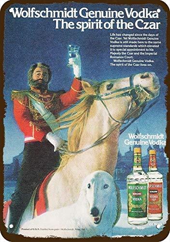 - onepicebest 1981 Wolfschmidt Vodka Vintage Look Replica Metal Sign 7