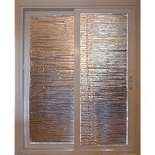 "GLASS DOOR INSULATION KIT, 84""x48""(2 PANELS/Kit) DIY REVERSIBLE RADIANT BARRIER REFLECTIVE FOIL PANELS"