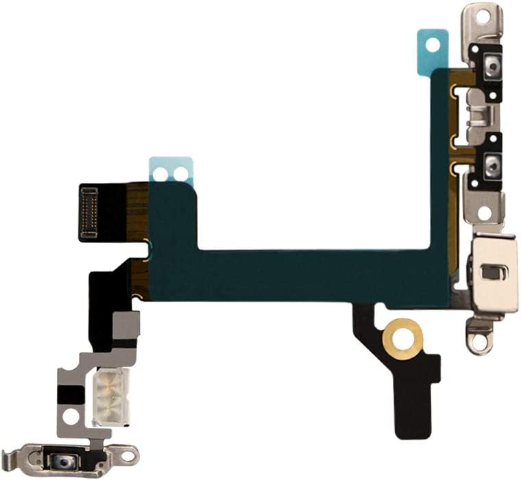 COHK Power On Off, Volume Switch Buttons and LED Flash Lights Flex Cable Assembly Replacement for iPhone 5s