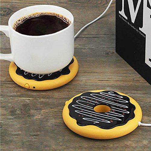 [해외]USB 충전 도너츠 디자인 커피 차 음료 머그 컵 온열 절연 커튼 패드 가정용 사무실 캠핑 용 패드 플레이트/USB Charging Donuts Design Coffee Tea Beverage Mug Cup Warmer Insulation Cushion Pad Plate for Household Office Camping Use