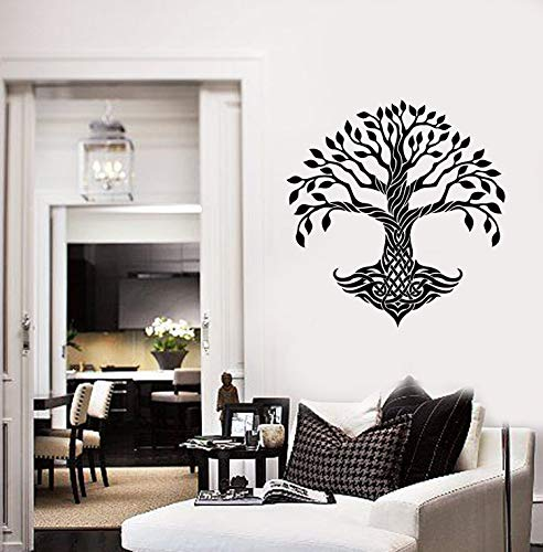 (Anewdecals Decals Decor Celtic Tree Vinyl Wall Decal Leaves Roots Irish Ornament Decor Stickers Mural Made in The USA only!)