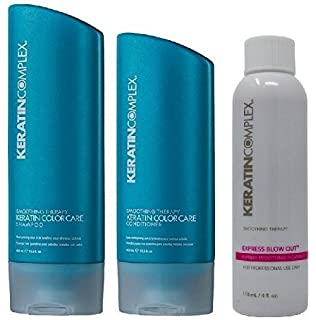 Keratin Complex Express Blowout 4 Ounces and Color Care Shampoo n Conditioner 13.5 Ounces