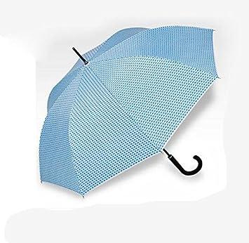BBSLT Paraguas doble uso vinilo protector solar UV, barra recta paraguas mango paraguas semi-