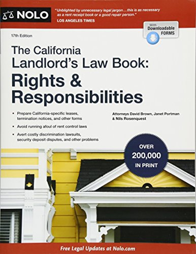 Pdf Law California Landlord's Law Book, The: Rights & Responsibilities (California Landlord's Law Book : Rights and Responsibilities)