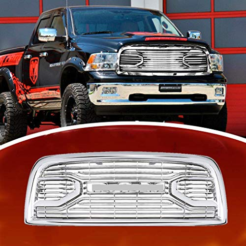 CD-Parts Front Grille Fits 2013-2018 Dodge RAM 2500 Chrome Laramie Limited Grille