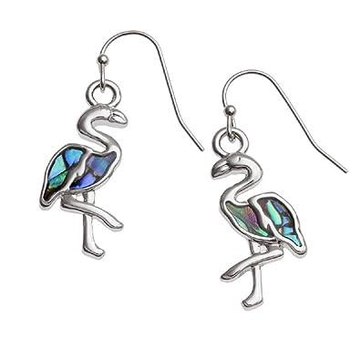 a3023d1df BellaMira Abalone Flamingo Paua Shell Earrings: BellaMira: Amazon.co.uk:  Jewellery