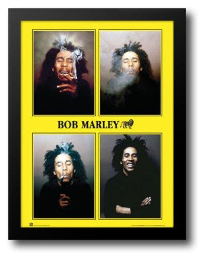 Bob Marley - 4 Photos 28x40 Framed Art Print