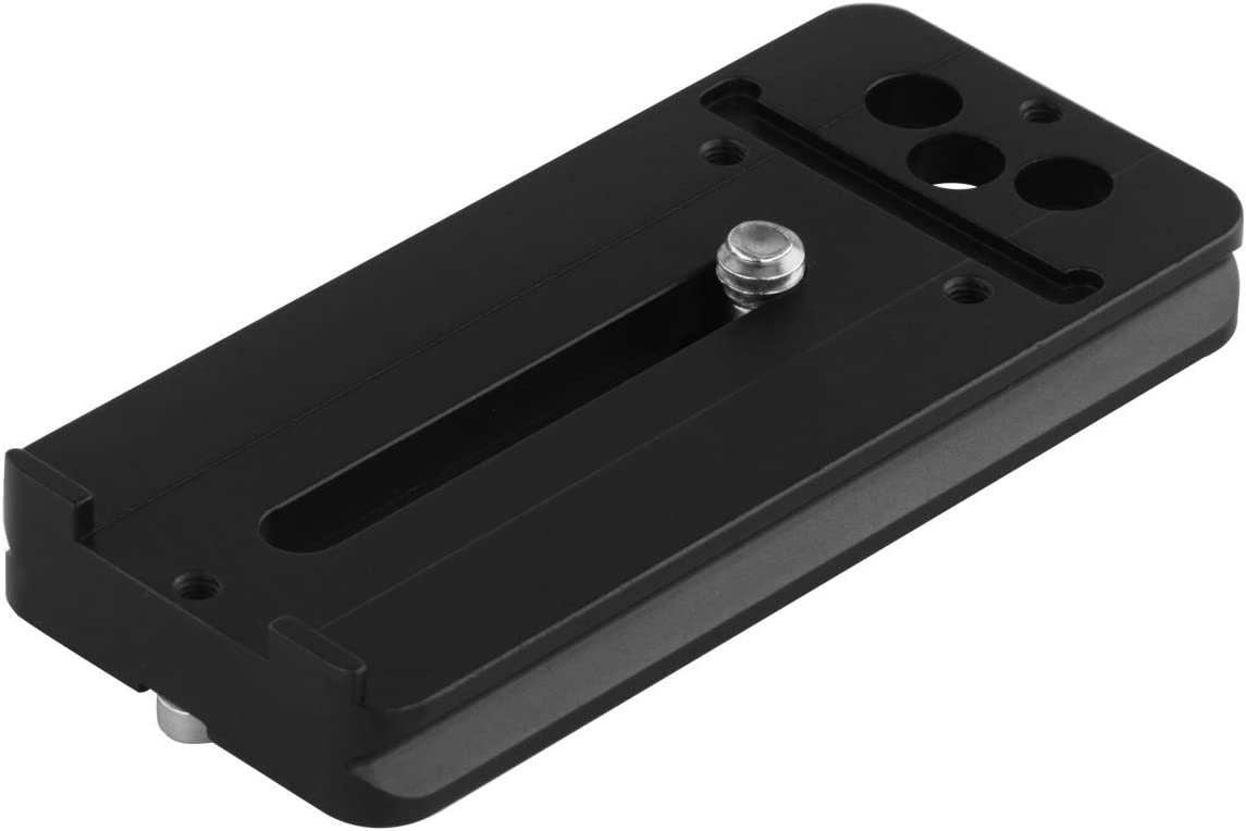 Haoge LQR-85 84mm Universal Lens Foot Quick Release Plate for Canon Nikon Olympus Fujifilm Tokina Tamron Sigma Pentax Sony Tele Telephoto Lens Compatible with Arca Swiss Tripod Ball Head Ballhead
