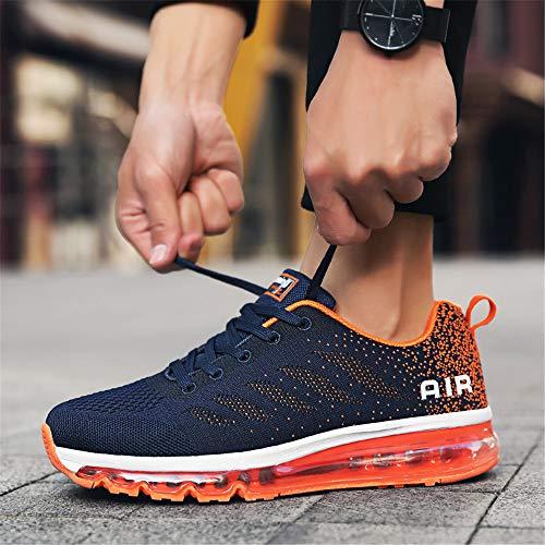 Ginnastica Corsa Da Arancio Blu Donna Cuscino D'aria Scarpe Fitness Uomo Monrinda Sneakers Running All'aperto Casual Bgn8aAqwq