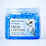 SMELLS BEGONE 52012 Odor Neutralizing Gel Beads, Fresh Cotton