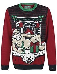 Ugly Christmas Sweater Women's Sexy Santa Light Up Sweater-XL