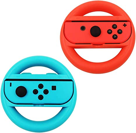 Volante Nintendo Switch,Joy-Con Racing Game Steering Wheel ...