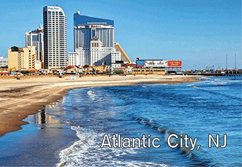 Atlantic City, New Jersey, Beach, Boardwalk, Casinos, NJ, Souvenir Magnet 2 x 3 Photo Fridge Magnet