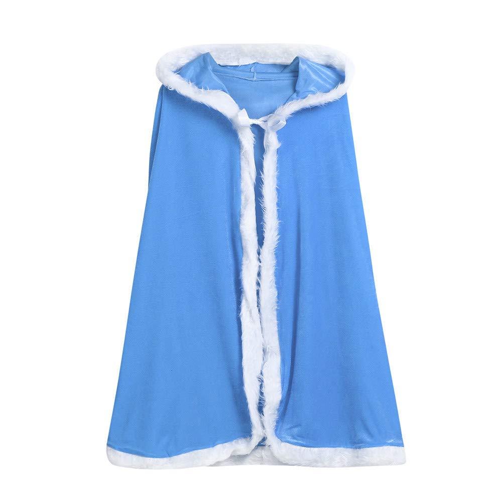 Baby Kapuzenpulli Honestyi Kinder Kinder Weihnachten Kostüm Santa Hooded Cosplay Cape Robe für Junge Mädchen (Blau Blau Grün Orange Rot Gelb, 120) 90) Honestyi5040
