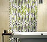 "Art3d A17046 Peel and Stick Kitchen Backsplash Sticker (10 Tiles), 12"" x 12"", Green, Piece"