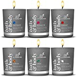 ArtNaturals Scented Candle Gift Set – 6 Piece Aromatherapy Set of Fragrance Soy Wax - Made in USA with Essential Oils – for Stress Relief and Relaxation