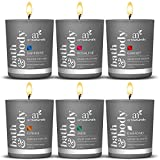 ArtNaturals Scented Candle Gift Set – 6 Piece Aromatherapy Set of Fragrance Soy Wax – Made in USA with Essential Oils – for Stress Relief and Relaxation