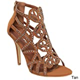 Cheap Forever KARLY-04 Women's New Hot Fashion Stiletto Heel Sandals, Color TAN, Size:6