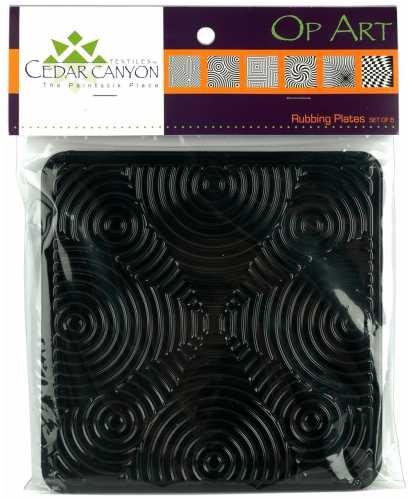 Op Art Rubbing Plates-Set Of Six by Cedar Canyon Textiles