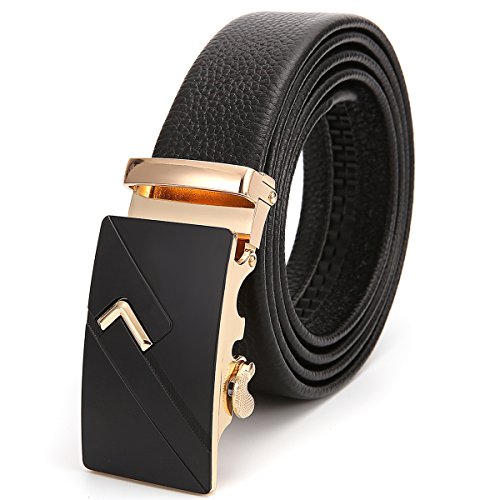 ThirdStreet Mens Belts Genuine Leather Ratchet Dress Belt with Automatic Buckle Perfect (Mens Leather Buckle Dress Belt)