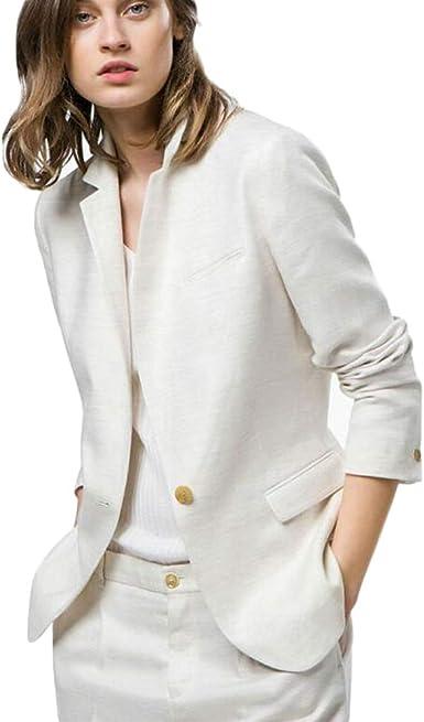 Amazon Com Topg Womens White Suit Business Work Suits 2 Pieces Notch Lapel Suits One Button Wedding Suits Clothing
