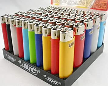 CLASSIC Maxi Bic LIGHTERS Gas Cigarette FULL SIZE Large Lighter Pack of 5