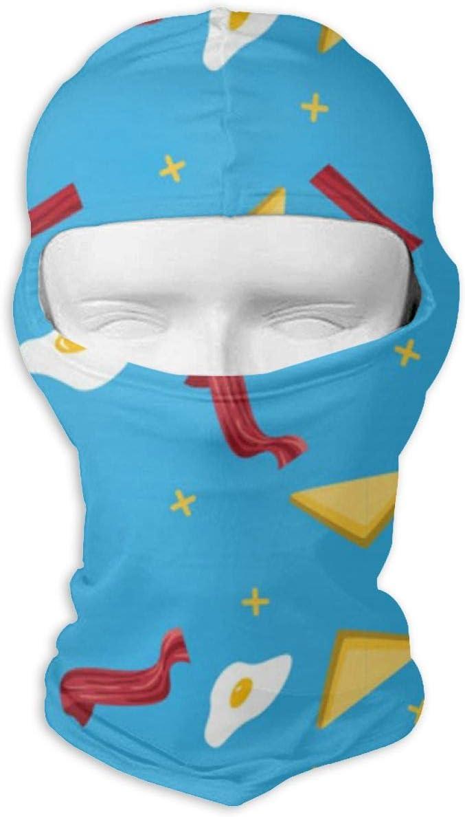CAClifestyle Bacon and Egg Pattern Unisex Windproof Balaclavas Full Face Mask Hood