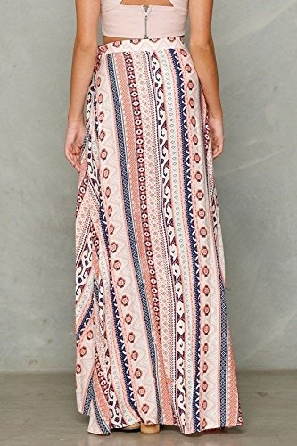 moahhally Womens Boho Gypsy Tribal Floral Skirt Maxi Summer Beach Long Casual Skirt Dresses(Multicolor,one size) best