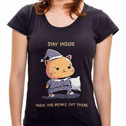 Pr - Camiseta Stay Inside - Feminina - M