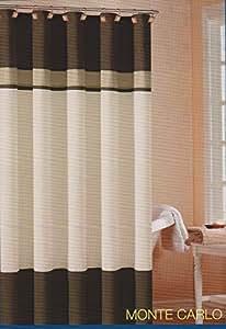 Amazon Com Soft Microfiber Fabric Shower Curtain Quot Monte
