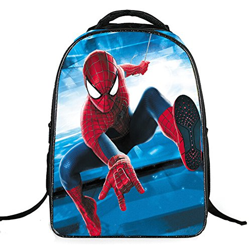 Seamand Newest Spiderman Style Backpack Large Capacity School Bag Travel Bag-Style B