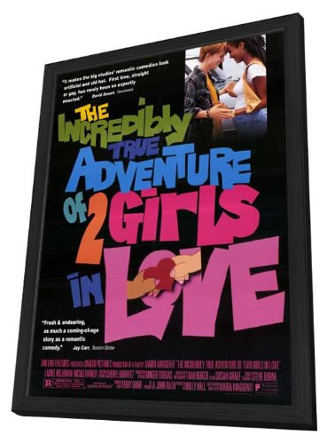 The Incredibly True Adventure of 2 Girls in Love - 27 x 40 Framed Movie Poster