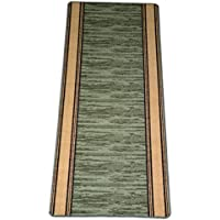 Washable Non-Skid Carpet Rug Runner - Boxer Green (5)