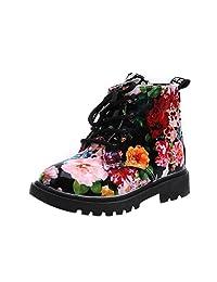 Binmer(TM) Fashion Children Girls Floral Kids Shoes Martin Casual Boots