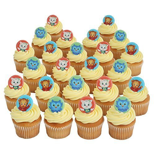 Daniel Tiger Officially Licensed 24 Cupcake Topper Rings by Bakery Crafts]()