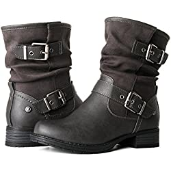 GLOBALWIN Women's 17YY12 Fashion Boots (9 M US Women's, 12Grey)