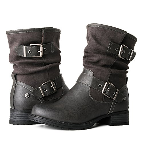 Globalwin Women's 17YY12 Fashion Boots (8 M US Women's, 12Grey)
