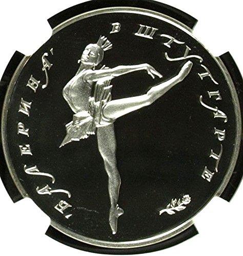 1992 RU Russia 1992 Silver Medal Ballerina Numismatic Con coin PF 68 Ultra Cameo NGC