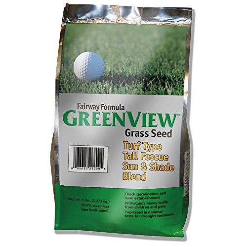 Quick Grow Grass Seed (GreenView Fairway Formula Grass Seed Turf Type Tall Fescue Sun & Shade Blend, 5 lb Bag)