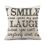 Pillow Covers,Valentines Love Letter Print Pillowcases Linen Sofa Cushion Cover Home Bed Decor (C)