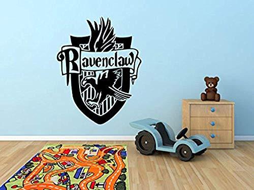 Wall Vinyl Decal Ravenclaw Harry Potter Inspired Hogwarts School of Witchcraft Logo Crest Vinyl Decor Sticker Home Art Print TT9725 ()