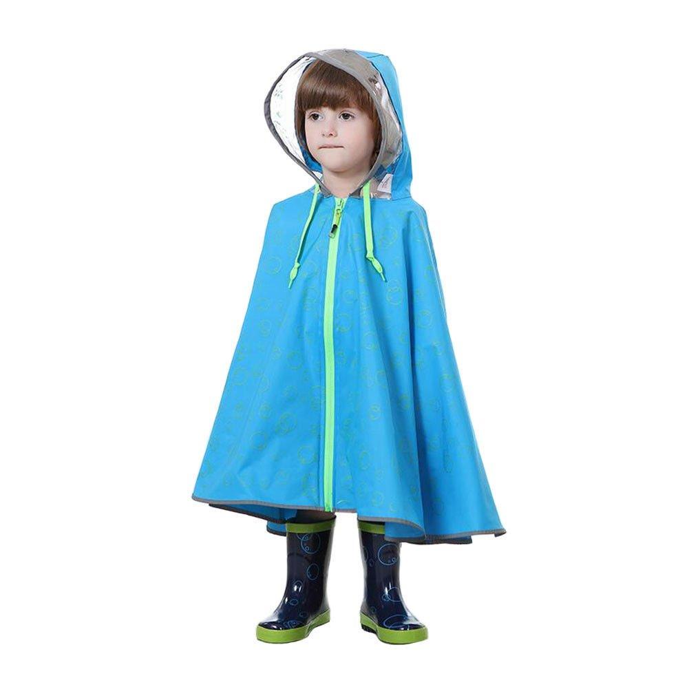 Deylaying Bambini Ragazzo Ragazze Poncho Mantello Raincoat con cappuccio All'aperto Impermeabile Lightweight Portatile Rain Wear