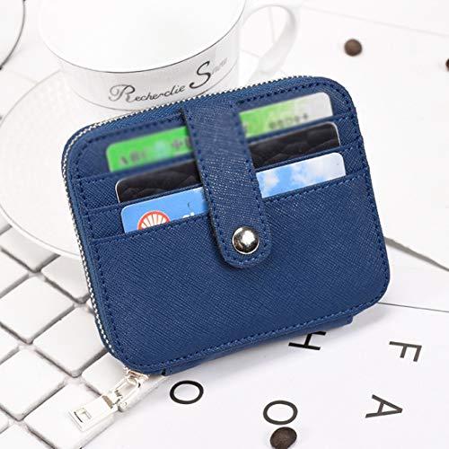 Crédit Black color cartes Porte Unisexe De monnaie Pour Porte Carte En Cuir Blue Hemotrade q7Ztg5