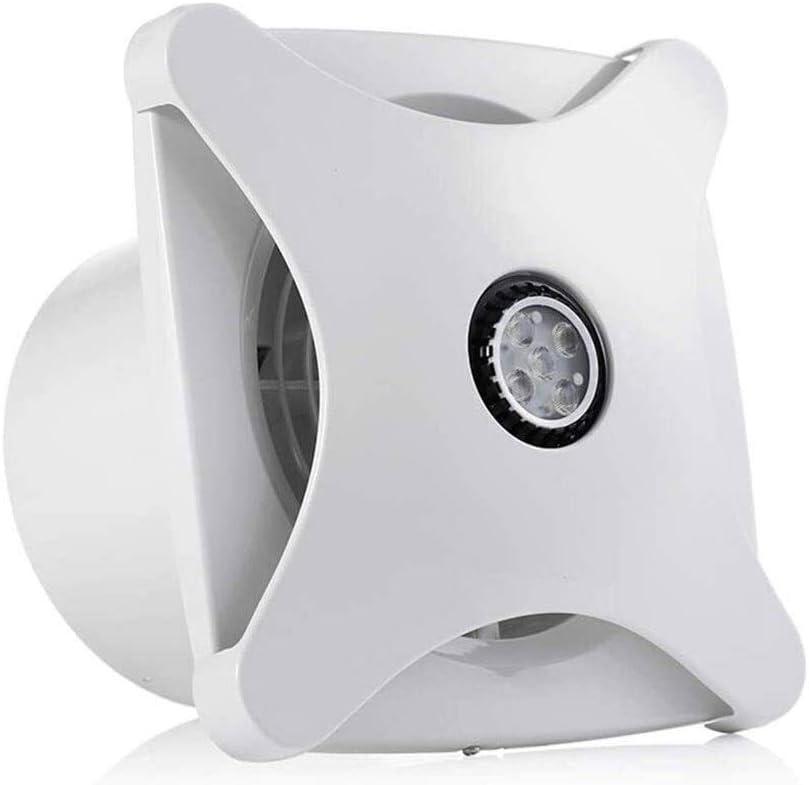 HGDD Ventilador Extractor de baño Tipo de Ventana Ventilador de Escape baño Techo de la Cocina Ventilador de Escape 6 Pulgadas montado en la Pared de Silencio hogar Ventilador de Escape