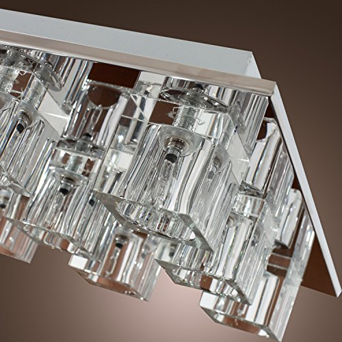 Lightess Chandelier Lighting LED Crystal Ceiling Light Fixtures Modern Flush Mount with 9 Lights in Square Shape by LIGHTESS (Image #7)