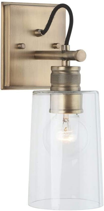 Austin Allen Co 9d319a 13 5 One Light Wall Sconce Aged Brass Finish With Clear Glass Amazon Com