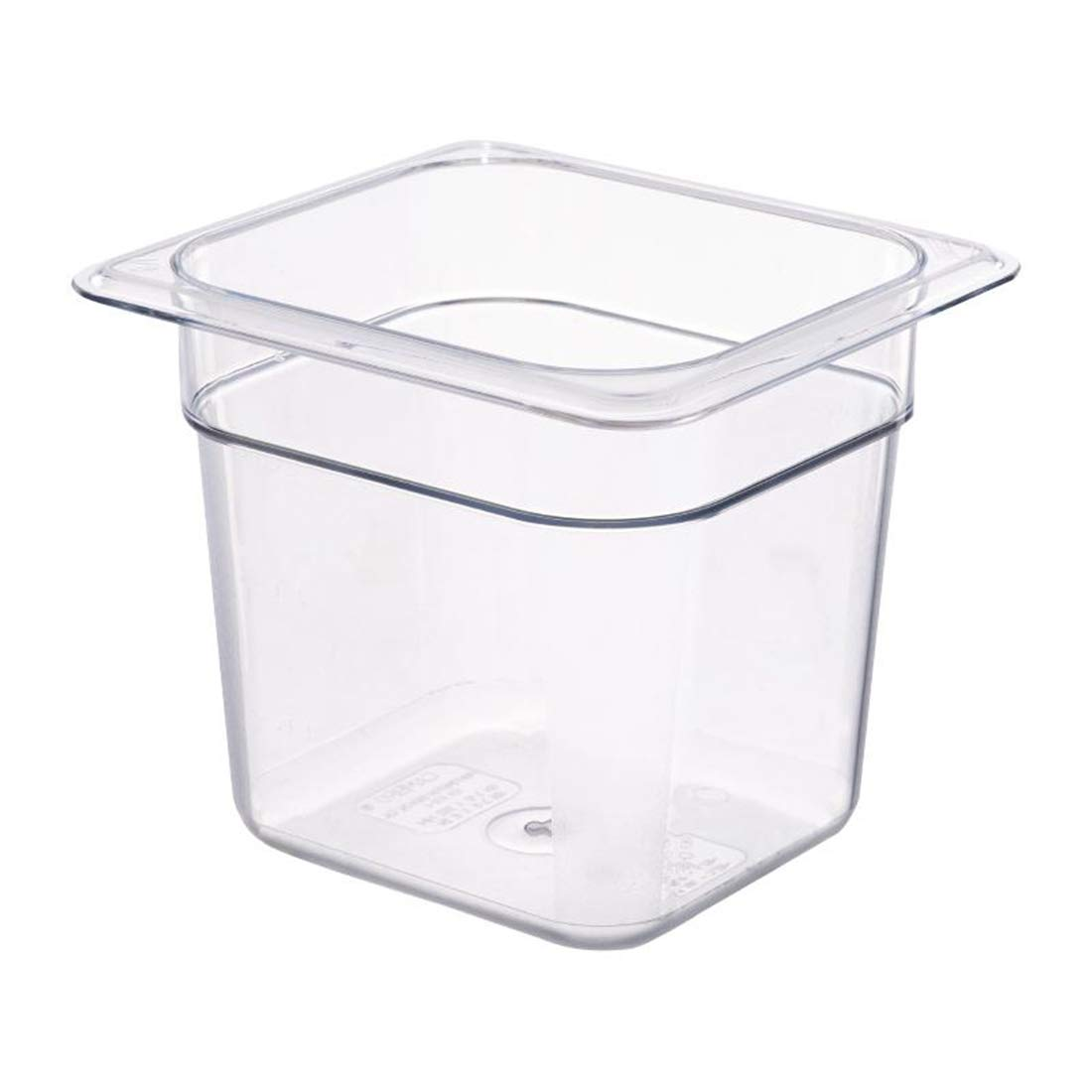 Cambroのセット3 Square FoodストレージContainers with Lids、1 /6サイズクリアポリカーボネート食品パン – 6