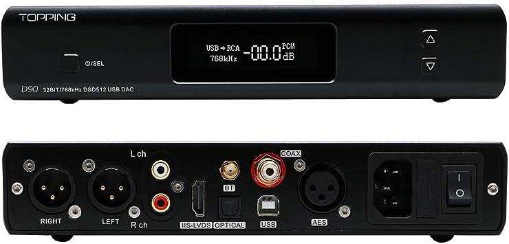 Amazon.com: Topping D90 AK4499 Full Balanced DAC DSD512 32Bit ...